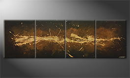 Le tableau pour salon 'Earth Splash' 220x70cm