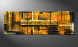 Le tableau pour salon 'Golden Matrix' 210x70cm