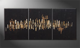 Le tableau pour salon 'Golden Nights' 180x80cm