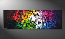 Peinture sur toile 'Colors Of Light' 210x70cm