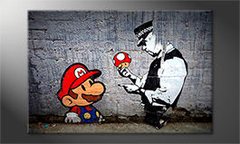 Le tableau moderne<br>'Caught Mario'