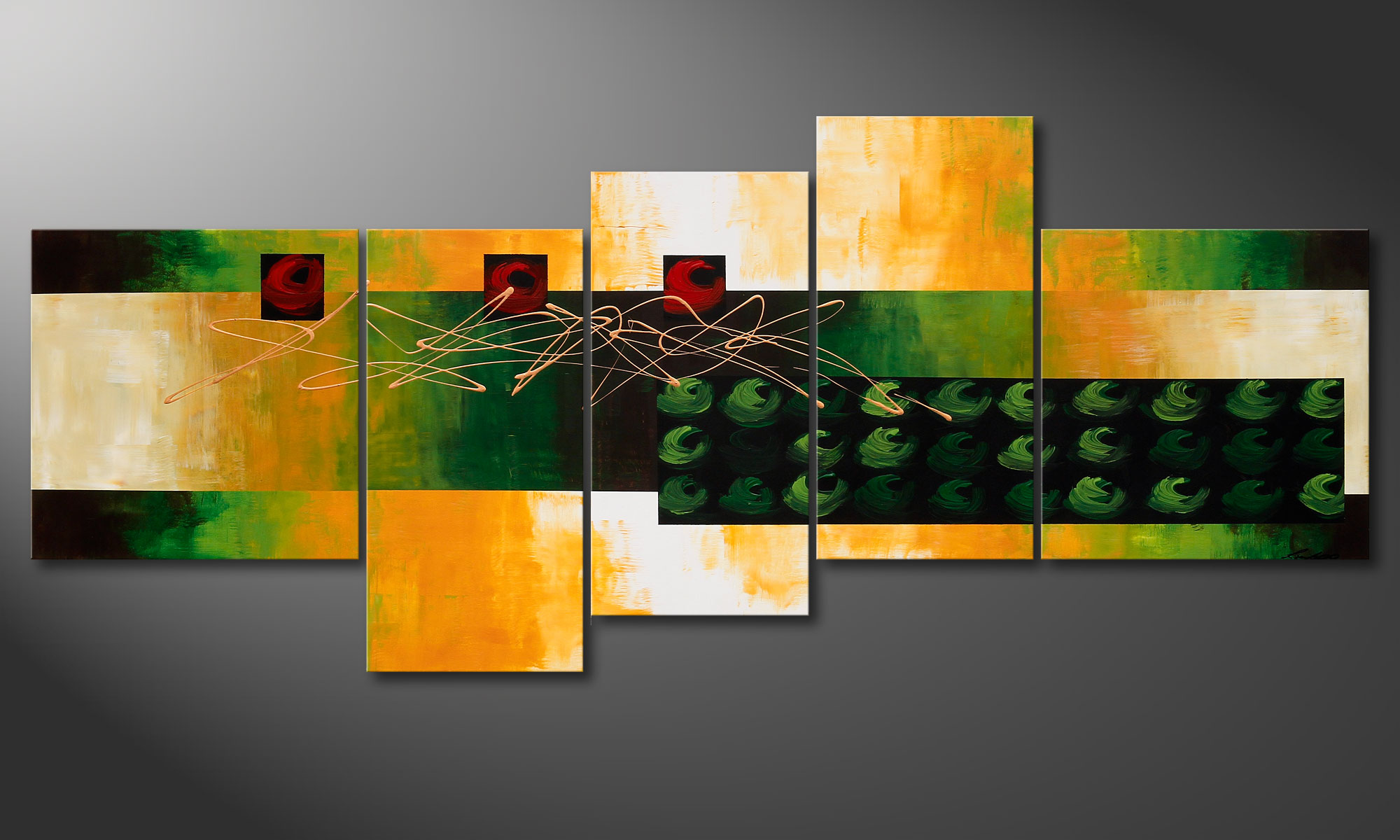 La peinture grand format quiet love 240x100cm tableaux xxl - Tableau grand format design ...