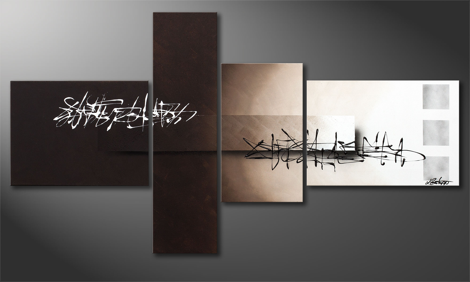le tableau abstrait between night day 130x70cm tableaux xxl. Black Bedroom Furniture Sets. Home Design Ideas
