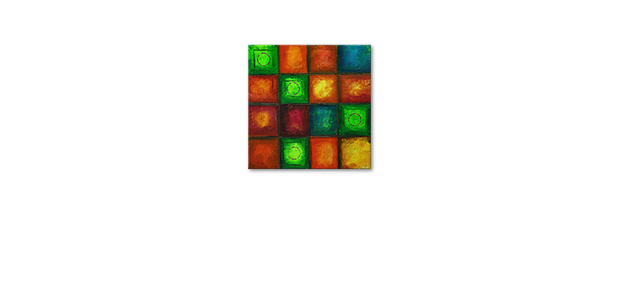 Le tableau mural Colorful Cubes 80x80cm