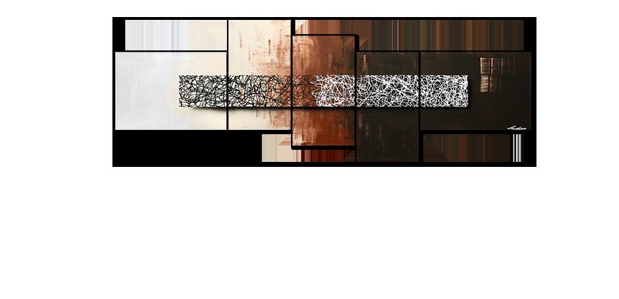 notre toile peinte la main day at night 260x90cm. Black Bedroom Furniture Sets. Home Design Ideas