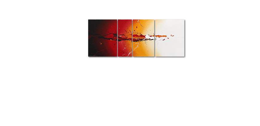 La peinture 100 faite main Fiery Splash 130x50cm