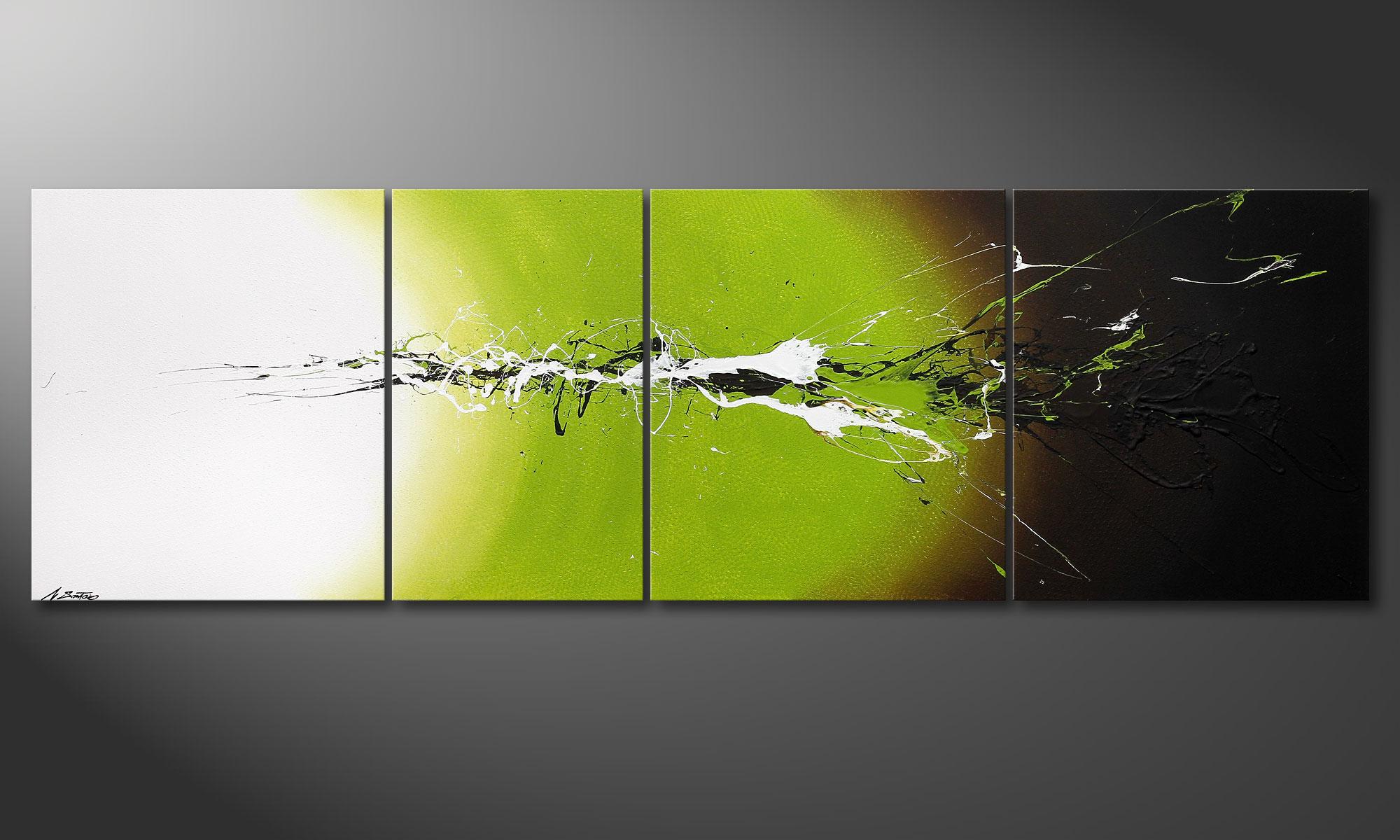 La peinture grand format juicy splash 260x80cm tableaux xxl - Tableau peinture grand format ...