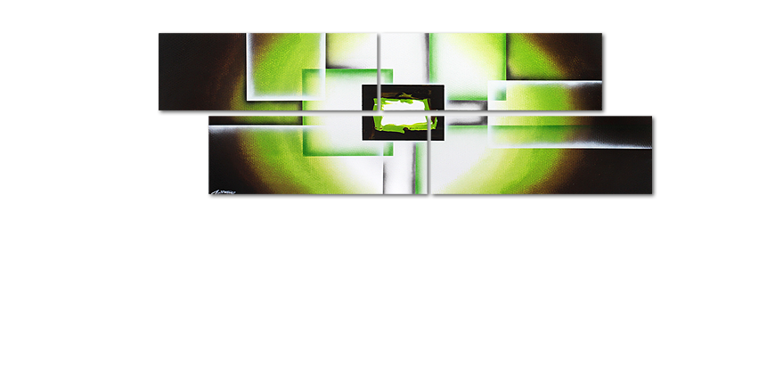 La toile XXL Green Spirit 245x80cm
