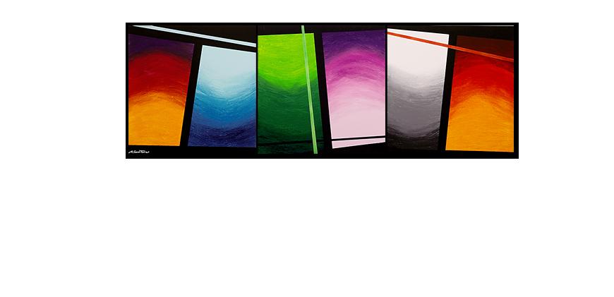 la toile en grand format wave of colors 240x80cm tableaux xxl. Black Bedroom Furniture Sets. Home Design Ideas