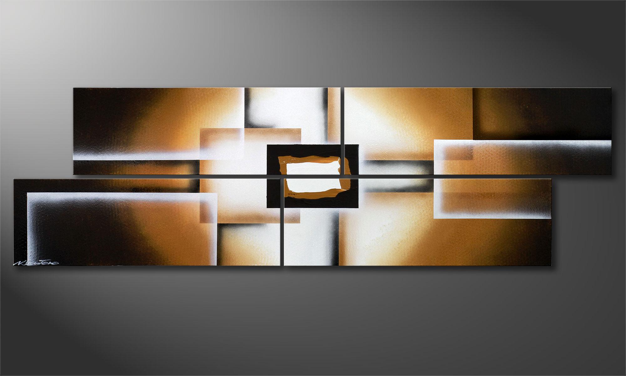 La toile moderne earth construction 200x60cm tableaux xxl - Toiles modernes design ...