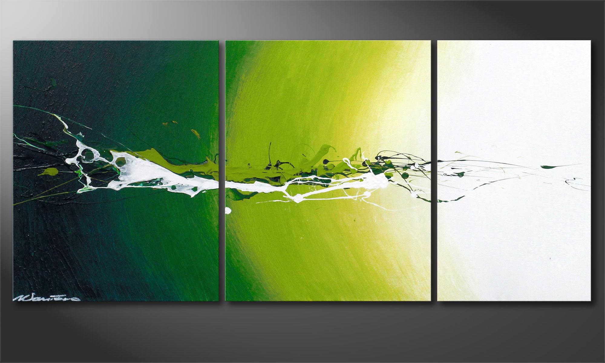 le tableau abstrait power of nature 110x50cm tableaux xxl. Black Bedroom Furniture Sets. Home Design Ideas