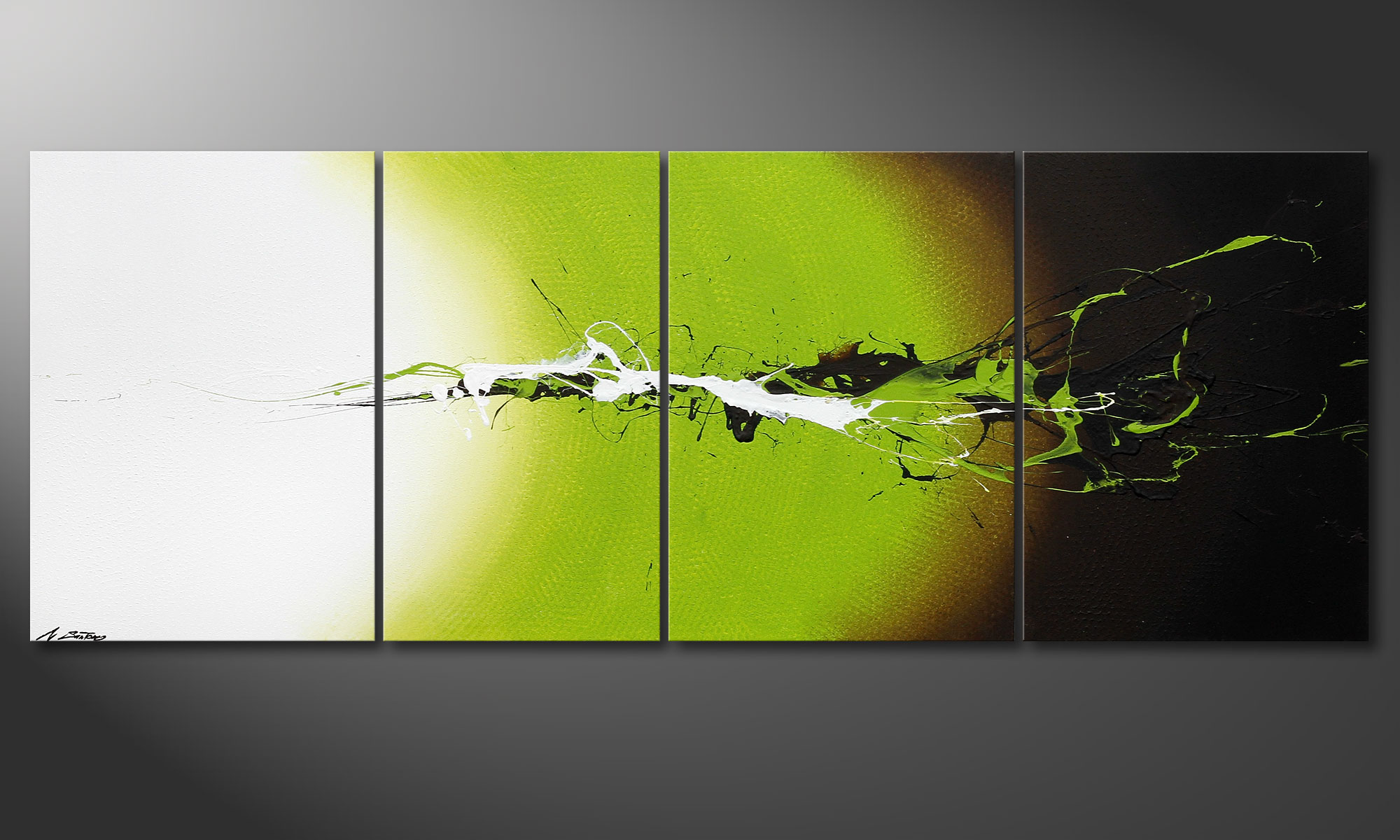 Le tableau mural juicy splash 190x70cm tableaux xxl for Tableau mural zen