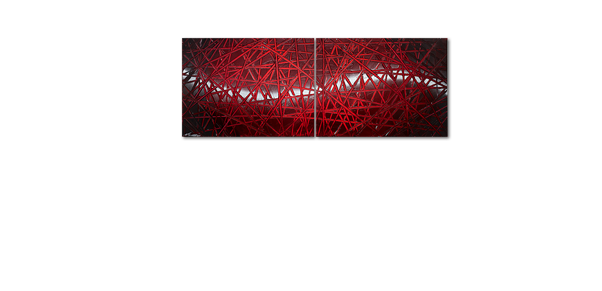 Le tableau mural Red Push 160x60cm