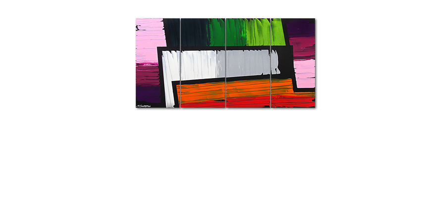 Le tableau mural Structure of Colors 160x80cm