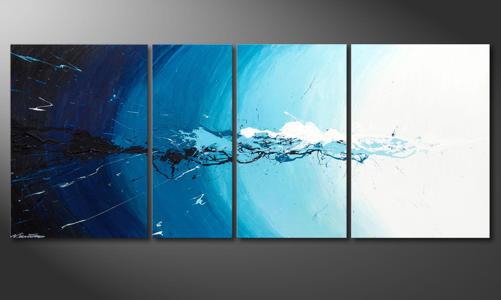 le tableau mural water splash 170x70cm tableaux xxl. Black Bedroom Furniture Sets. Home Design Ideas