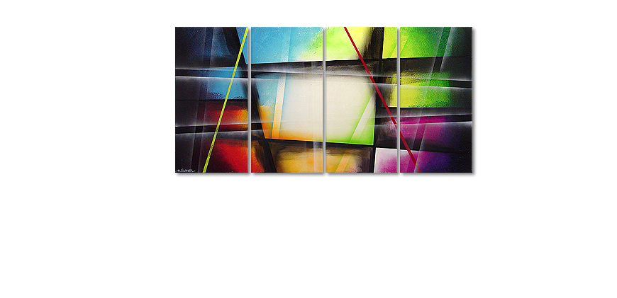 Le tableau mural Window to Rainbow 160x80cm