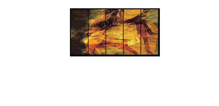 Le tableau multi panneaux gloria 150x80cm tableaux xxl - Tableau multi panneaux ...