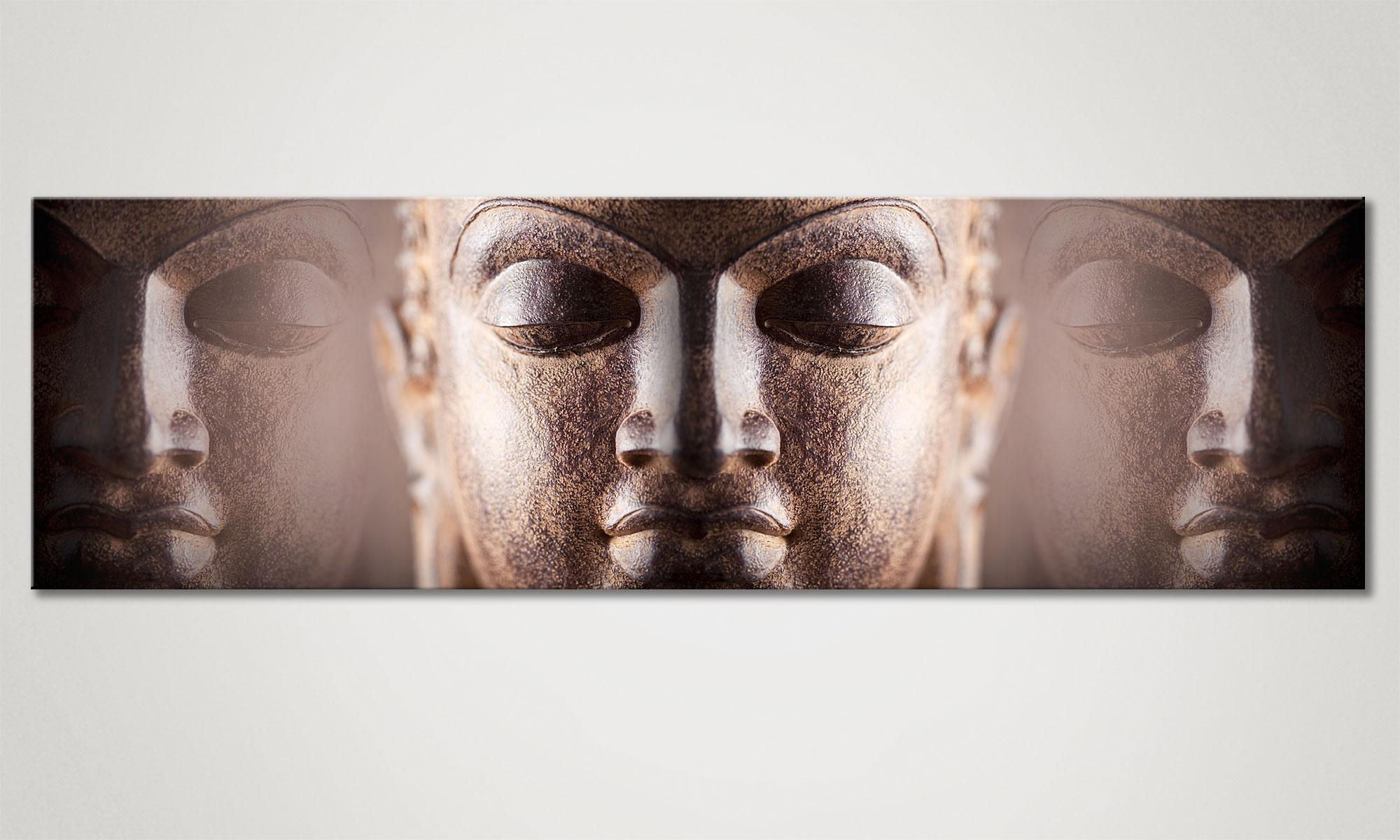 Le Tableau Mural Bouddha Silence 170x50cm