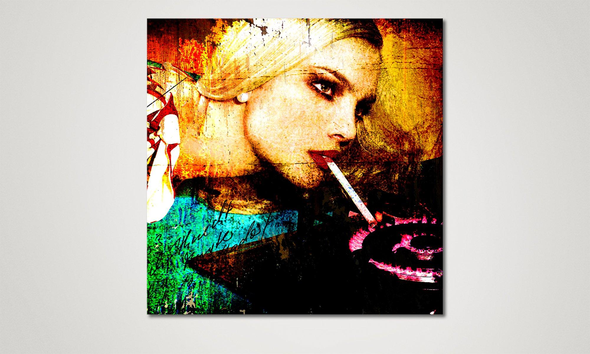 Le tableau mural moderne carmen 80x80cm tableaux xxl - Tableau mural moderne ...