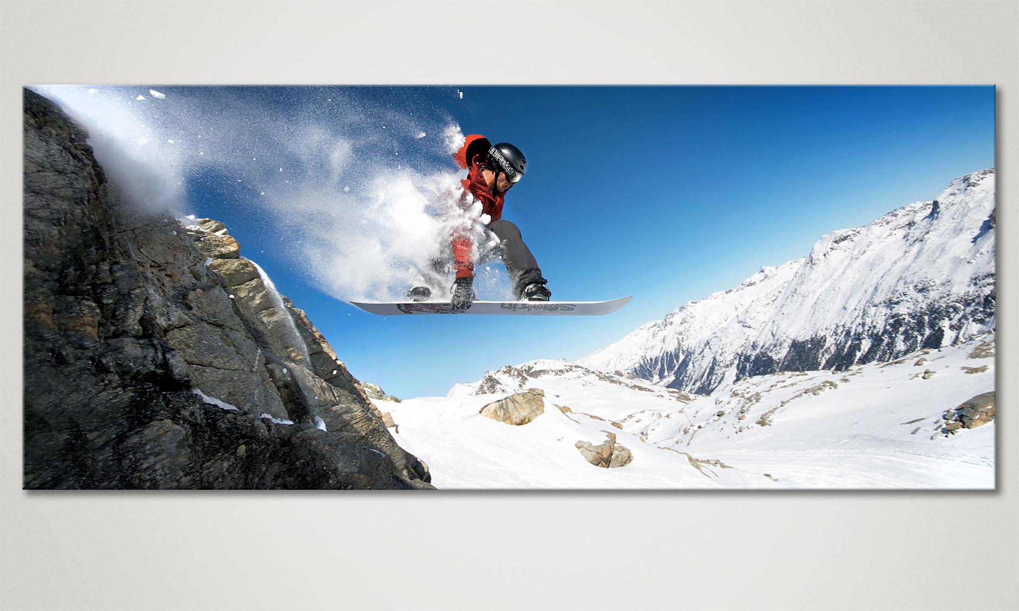 Le tableau mural moderne snow ride 120x50cm tableaux xxl - Tableau mural moderne ...