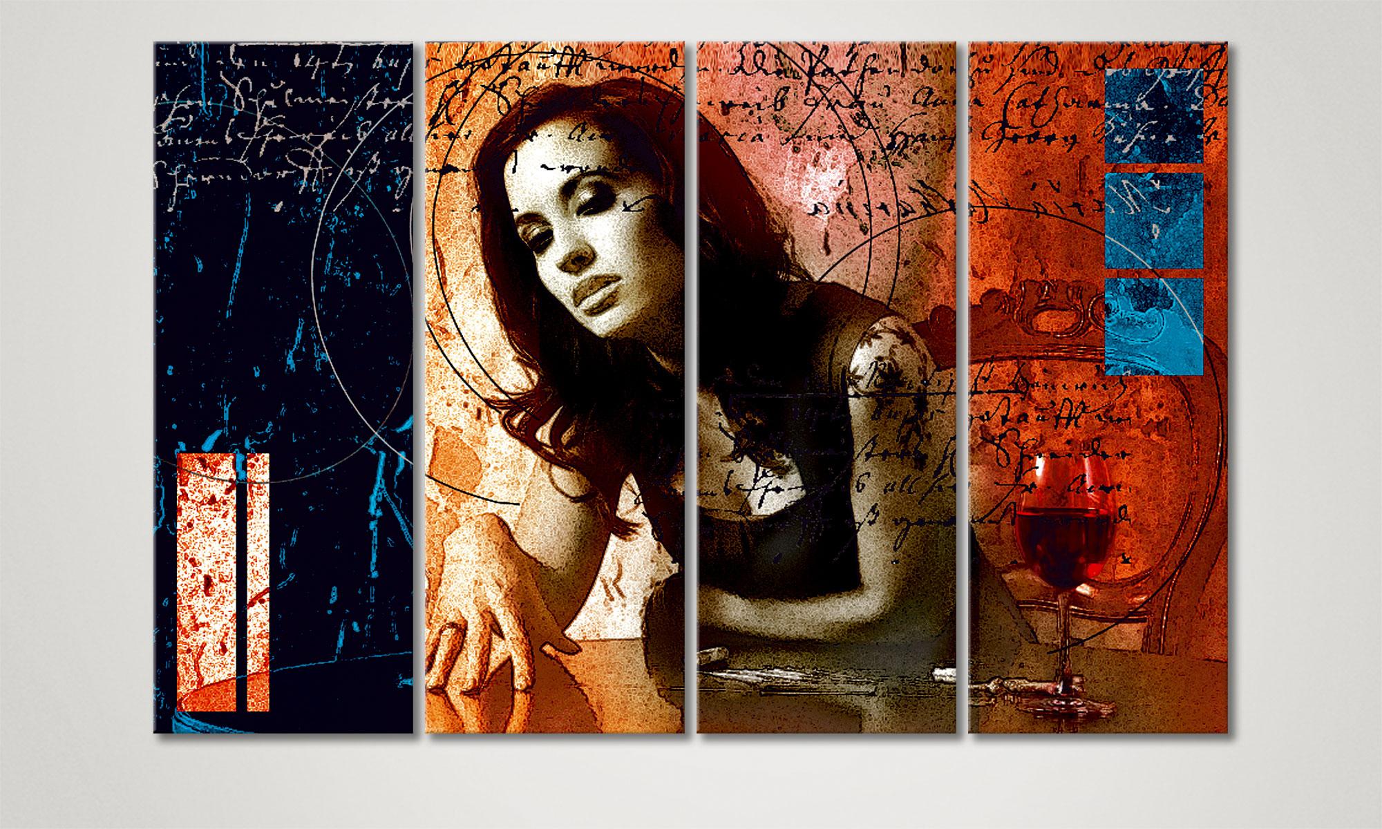 le tableau mural sensuel desire 120x80cm tableaux xxl. Black Bedroom Furniture Sets. Home Design Ideas