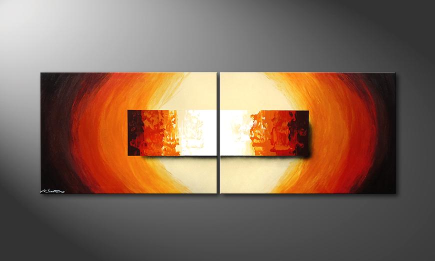 Aboil Fire 210x70x2cm Tableau