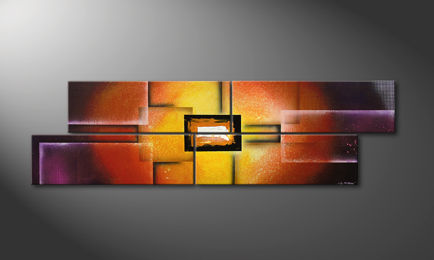 La peinture Colors of Heat 200x60x2cm