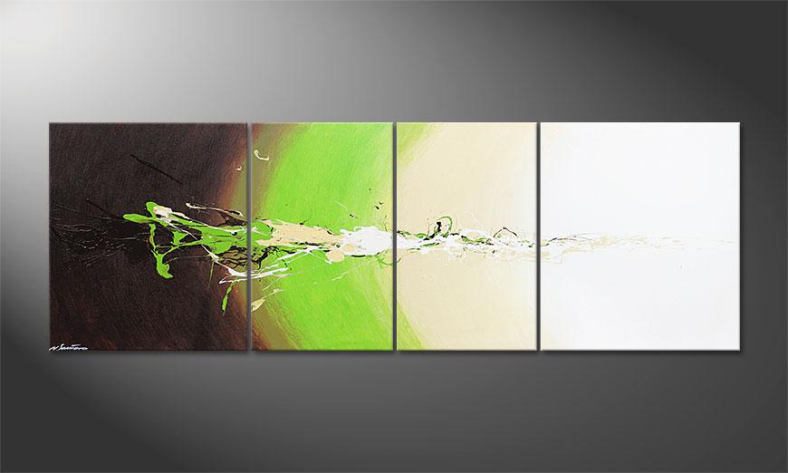 La peinture grand format Fresh Splash 240x80x2cm