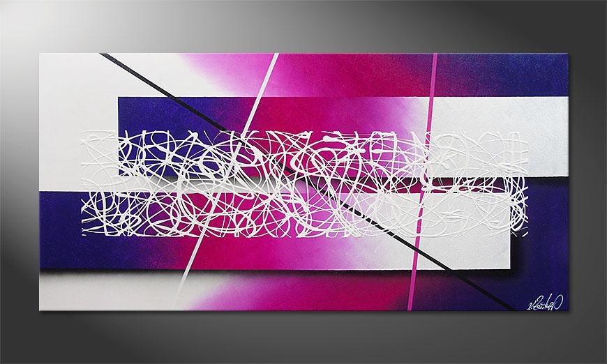 La peinture moderne Fancy Connection 140x70x2cm