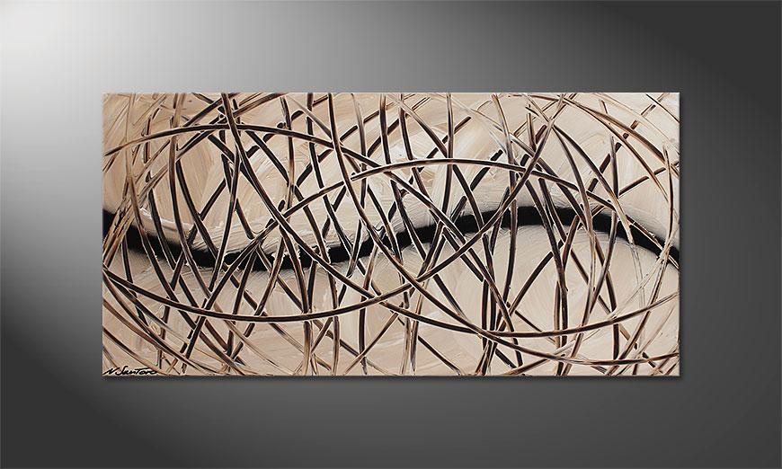 La toile à l'acrylique Desert Traces 120x60x2cm