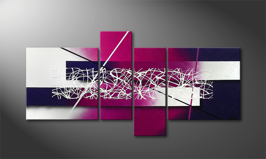 La toile moderne Purple Lights 130x65x2cm