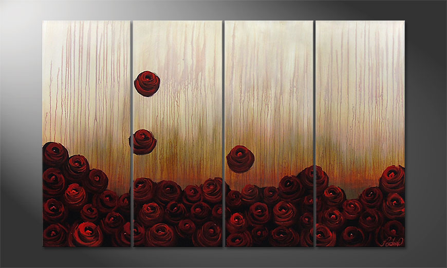 Le tableau mural Bed of Roses 160x100x2cm