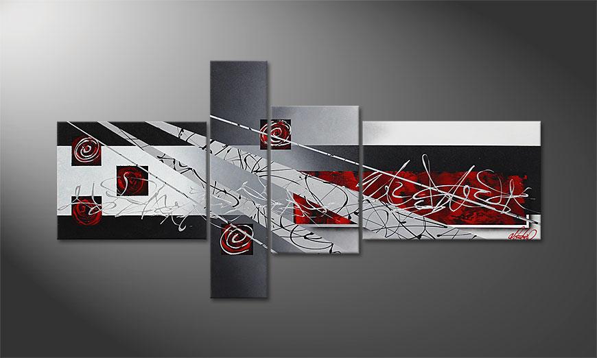 Le tableau mural Black Lights 160x80x2cm