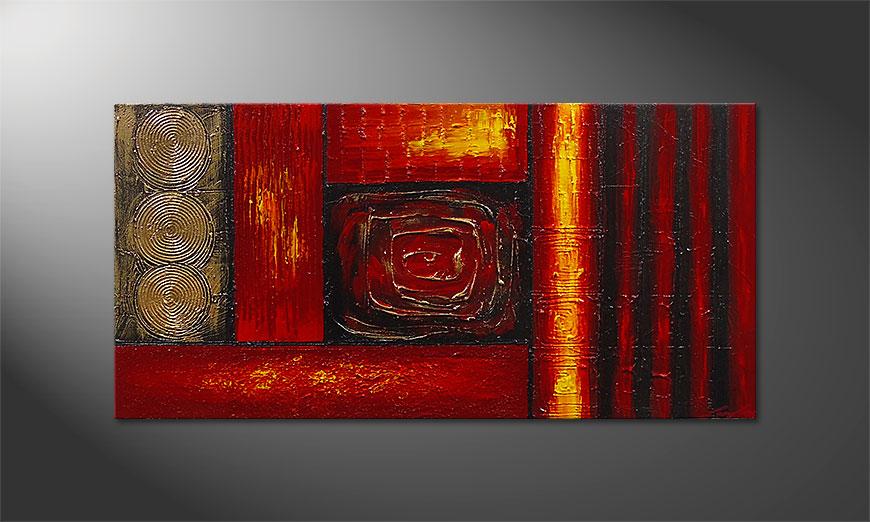 Le tableau mural Emotional Moments 120x60x2cm