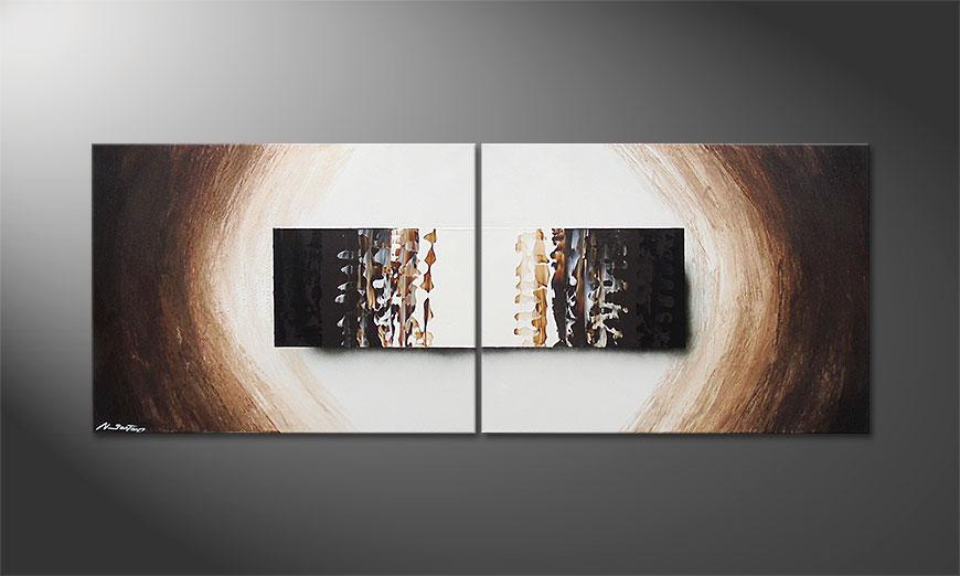 Le tableau mural Enlightened Earth 160x60x2cm