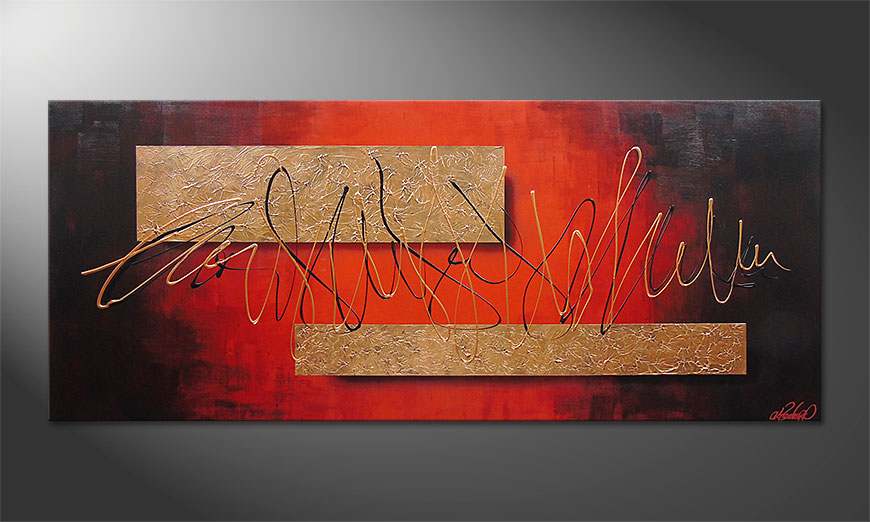 Le tableau mural Golden Works 180x80x2cm