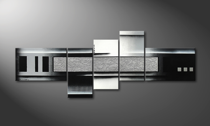 Le tableau mural Grey and Black 210x80x2cm
