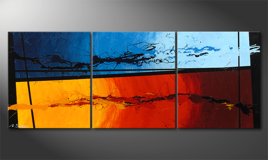 Le tableau mural Hot and Cold 150x60x2cm