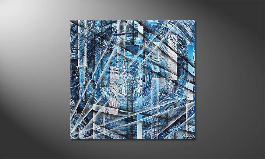 Le tableau mural Inner Ice 100x100x2cm
