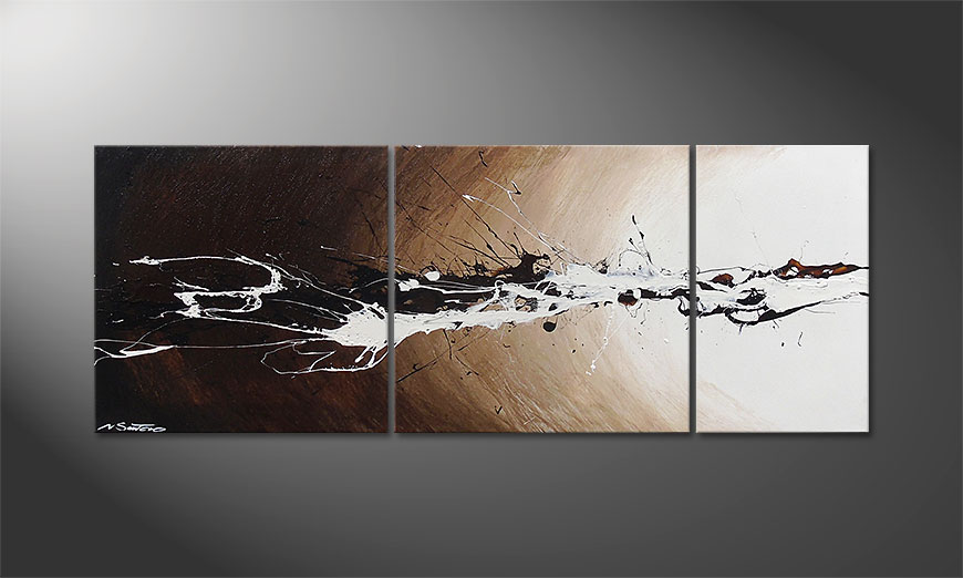Le tableau mural Light Eruption 130x50x2cm