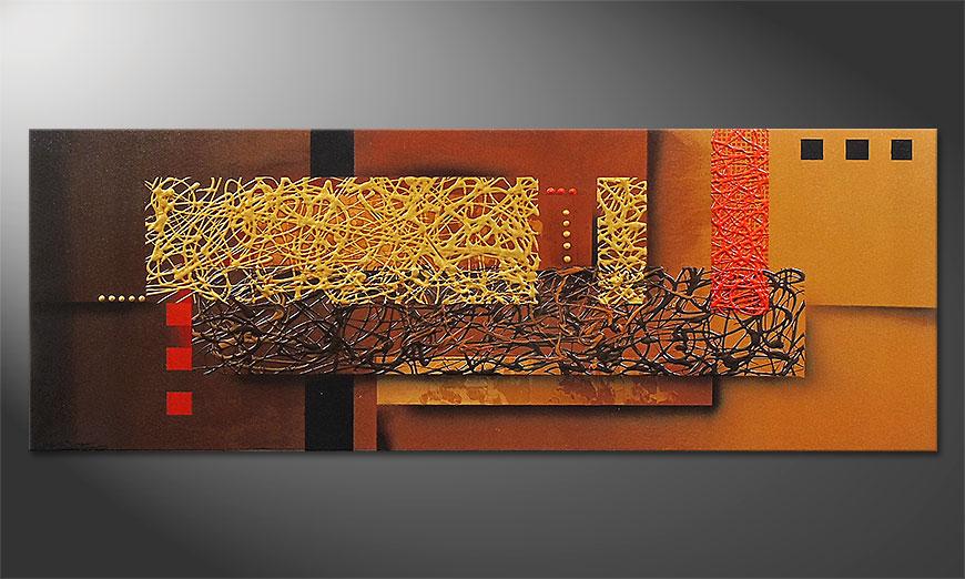 Le tableau mural Liquid Gold 150x55x2cm