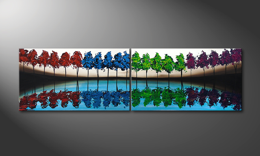 Le tableau mural Miracle Forest 200x60x2cm