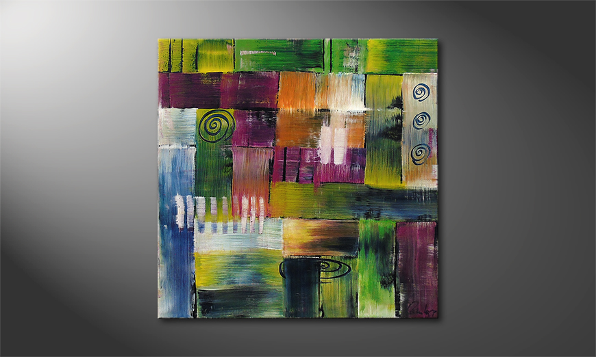Le tableau mural Moments of  Happiness 80x80x2cm