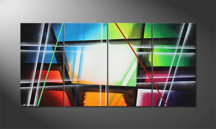 Le tableau mural Prisma 160x80x2cm