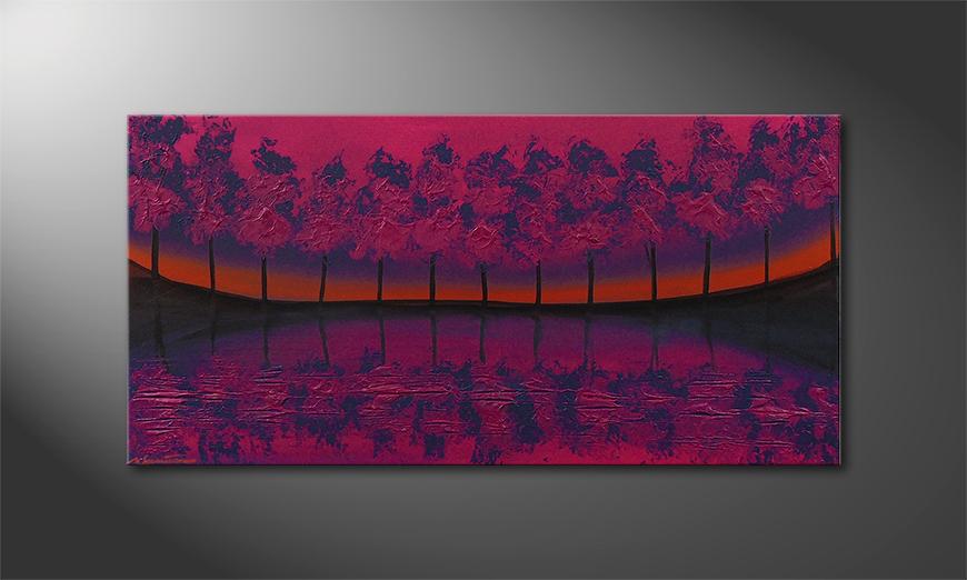 Le tableau mural Purple Tree 120x60x2cm