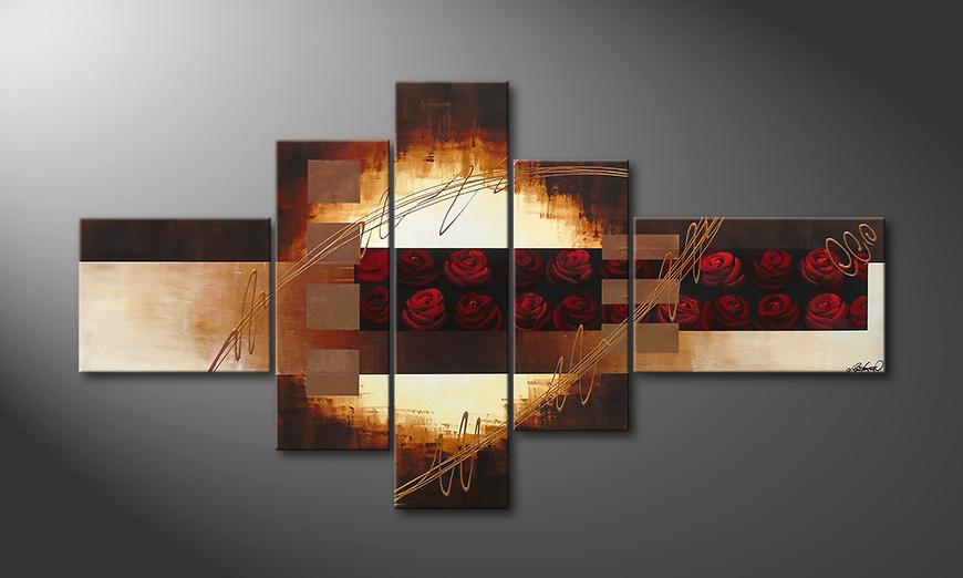 Le tableau mural Rose Garden II 205x110x2cm