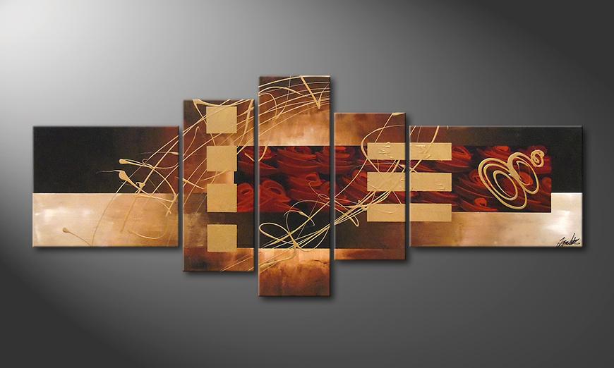 Le tableau mural Rosy Phantasies 220x90x2cm