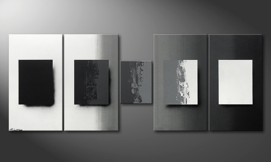 Le tableau mural Shades of Grey 230x90x2cm