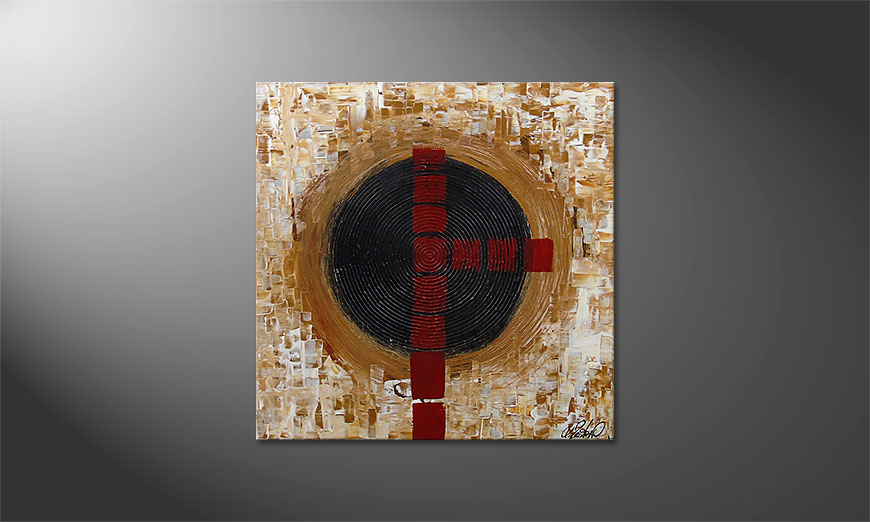 Le tableau mural Squaring the Circle 80x80x2cm
