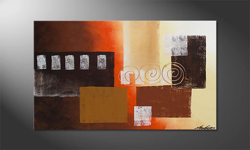 Le tableau mural Sunny Swirls 100x60x2cm